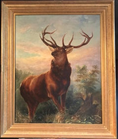 Monarch of the Glen, Huge Antique Oil Painting after Sir Edwin Landseer