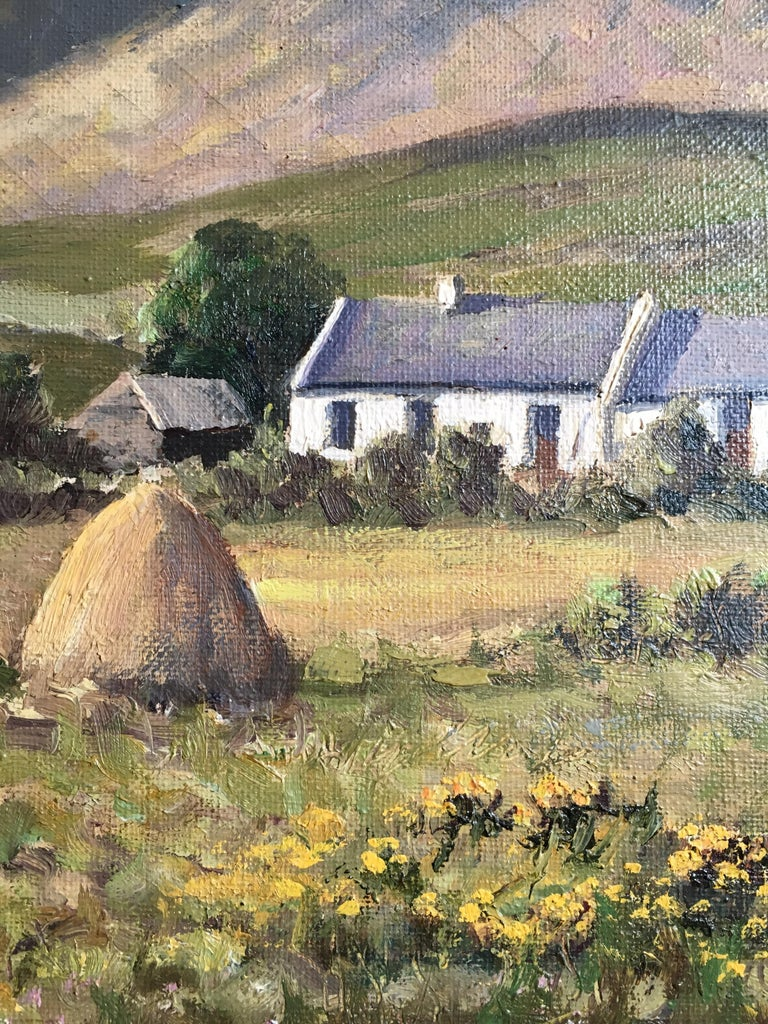The Mournes Irish Mountains, County Down, Oil Painting Signed For Sale 1