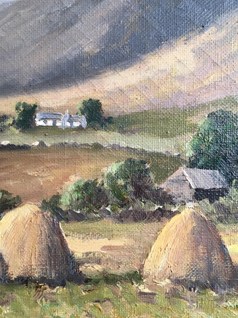 The Mournes Irish Mountains, County Down, Oil Painting Signed For Sale 3