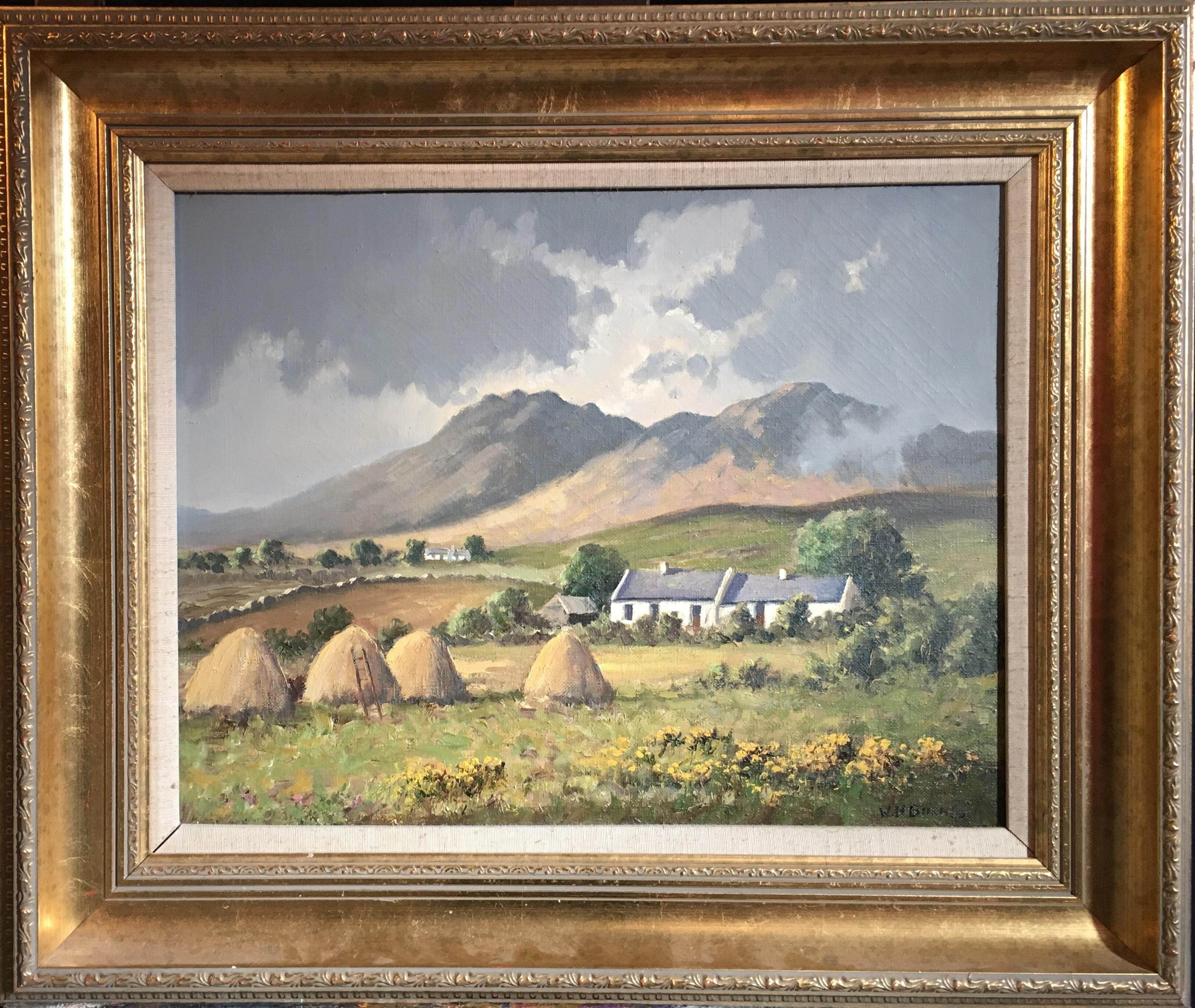 The Mournes Irish Mountains, County Down, Oil Painting Signed