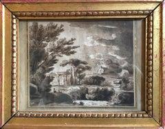 Classical Landscape, Original Glazed Frame, Signed