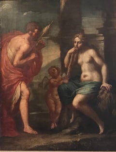 Hercules & Omphale, Fine 18th Century Italian Oil Painting