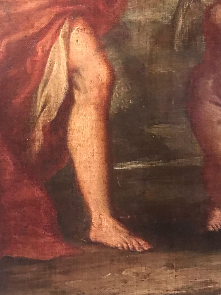 Hercules & Omphale, Fine 18th Century Italian Oil Painting  For Sale 1