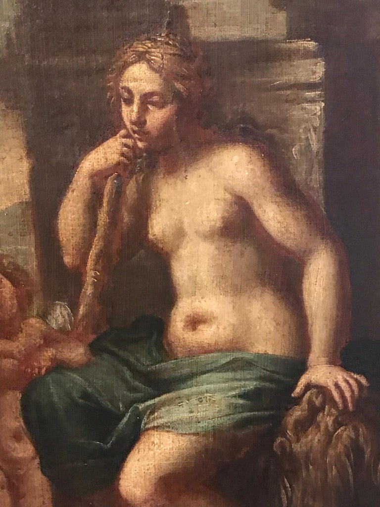 Hercules & Omphale, Fine 18th Century Italian Oil Painting  For Sale 3