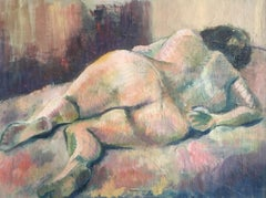 Nude Woman, Abstract Oil Painting, Mid 20th Century, British Artist