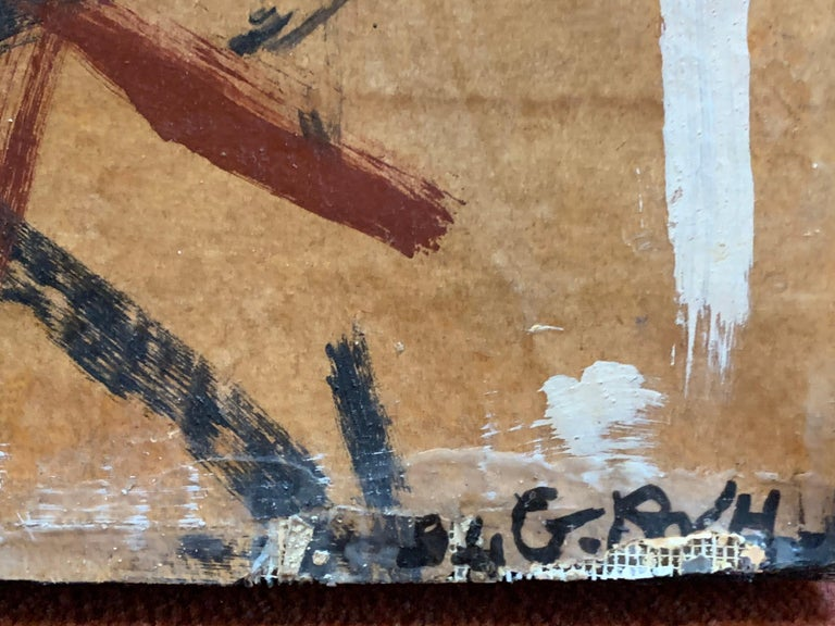 Huge French Contemporary Abstract Painting with Collage dated 1994, Signed For Sale 9