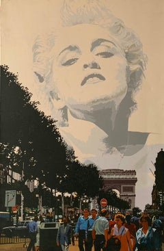 The Champs Elysees Paris Pop Art large painting on canvas