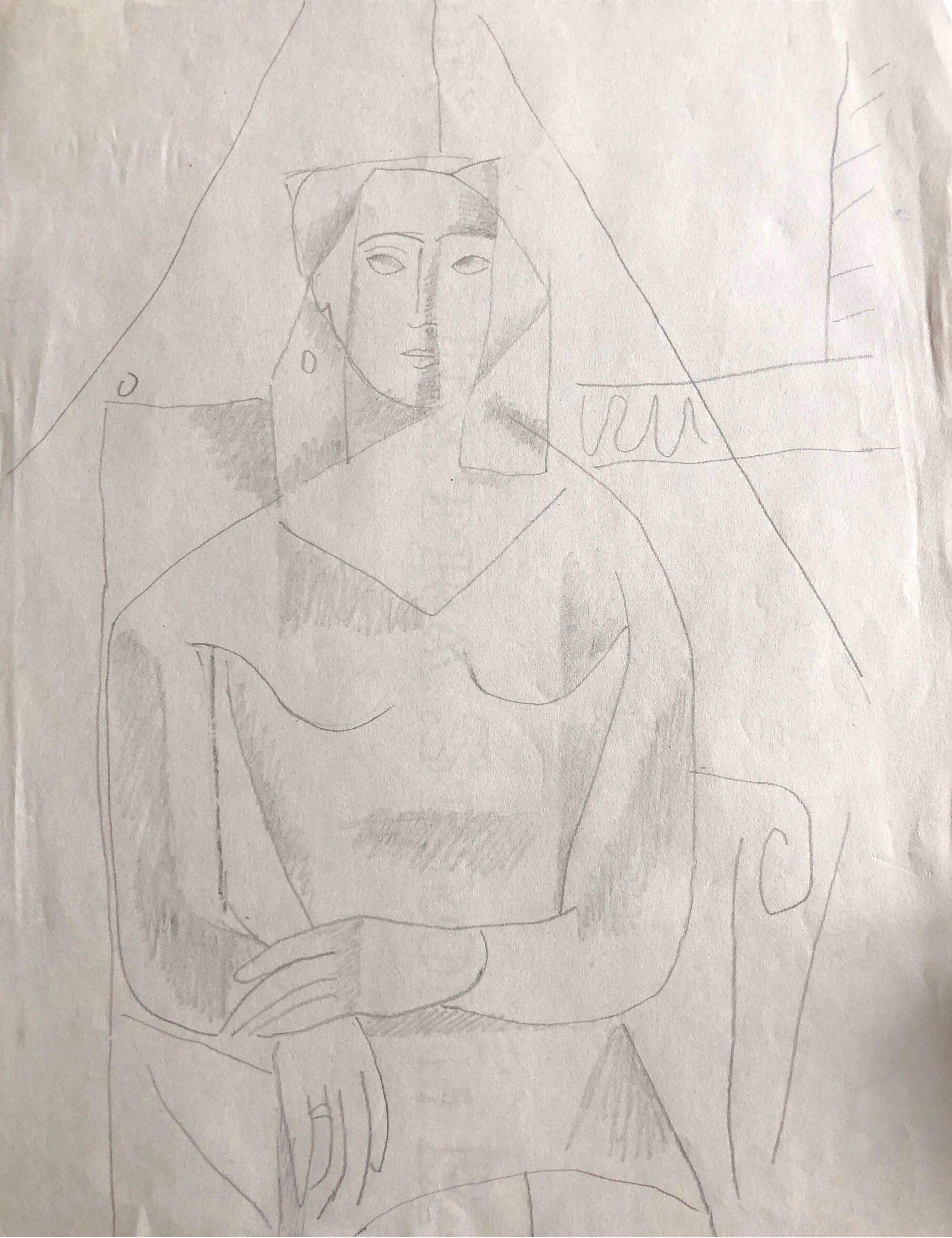 CARLOS CARNERO (1922-1980) ORIGINAL DRAWING BY FERNAND LEGER STUDIO WORKER