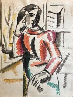 CARLOS CARNERO (1922-1980) ORIGINAL PAINTING BY FERNAND LEGER STUDIO ARTIST