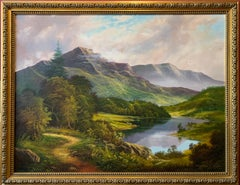 The Lake District Fine Traditional English Landscape Huge Oil Painting