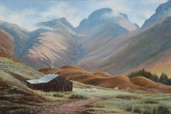 Lake District Cumbria Landscape Fine English Oil Painting Open Panoramic View