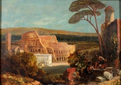 Capriccio with the Colosseum and The Arch of Constantine with Figures, Oil