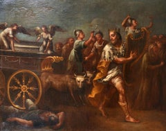 Huge 17th Century Italian Old Master painting, The Return of the Ark of Covenant