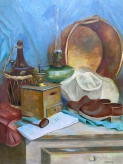 Large Colorful 20th Century French Impressionist Still Life - Eclectic Mix