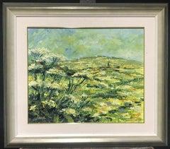 LARGE PROVENCAL GREEN LANDSCAPE - SIGNED PALETTE KNIFE OIL PAINTING