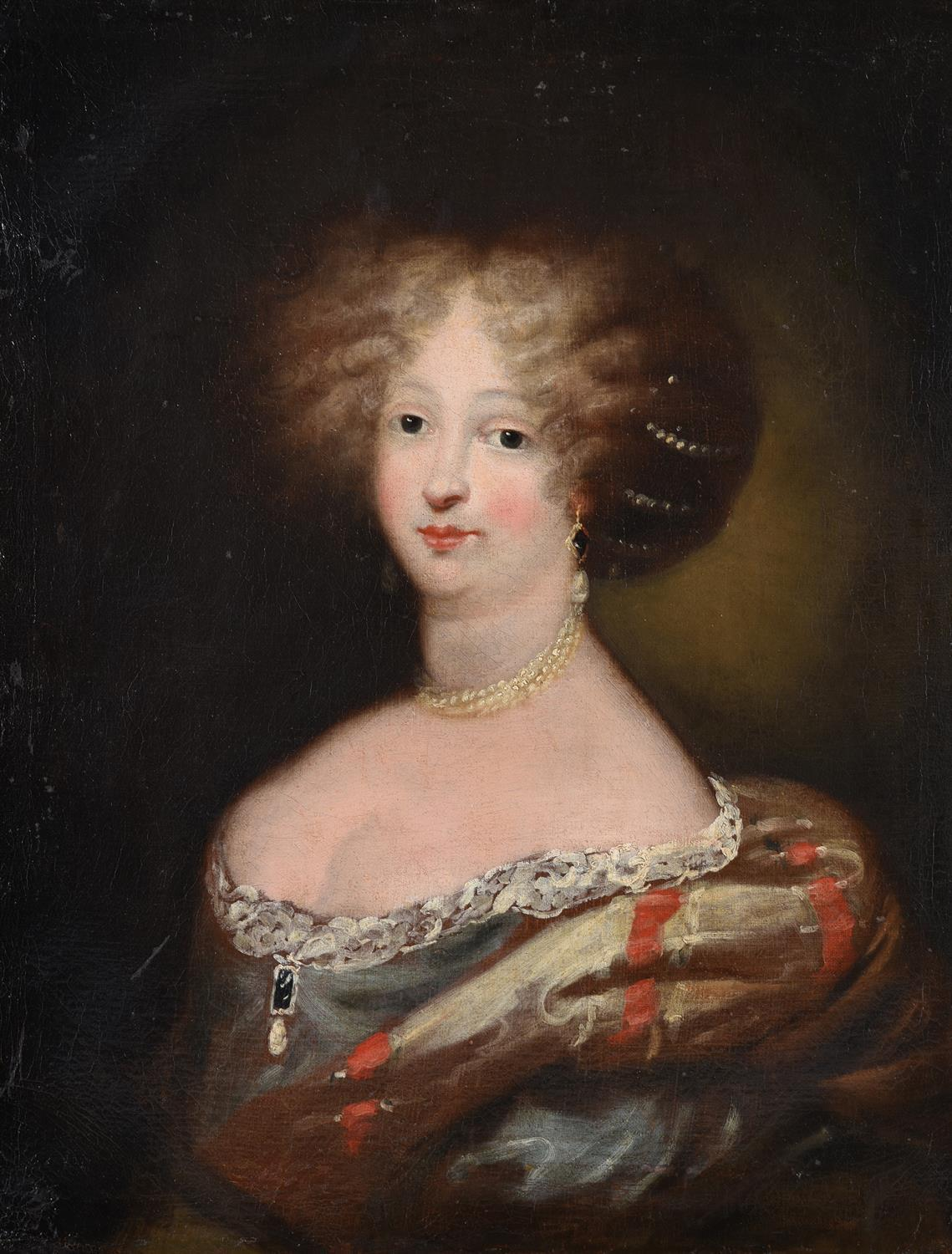 17th Century French Portrait of Aristocratic Lady Large Oil Painting