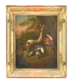 Follower of Jan Fyt (Flemish 1611-1661) Large Still Life Dead Game Oil on Panel