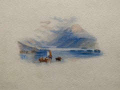 Loch Lomond Scotland, Fine Victorian Watercolour after JMW Turner