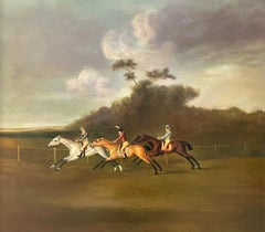 Fine Classic British Sporting Art Oil Painting - The Horse Race