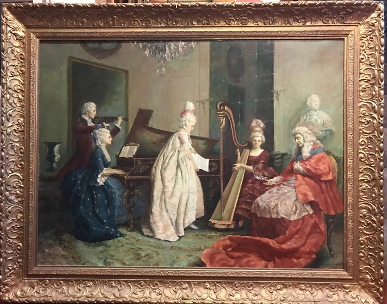 The Cardinals Quartet, Very Large Oil Painting on Canvas