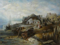 Beach at Low Tide, Large Oil Painting on Canvas by Louvre Copyist
