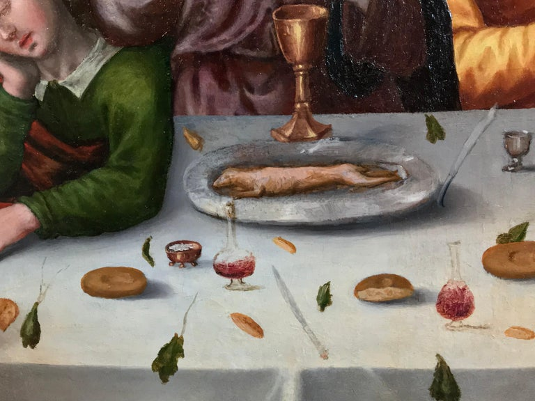 The Last Supper, circa 1500, Important Early Old Master Oil Painting For Sale 6
