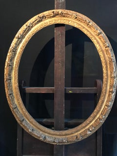 18th Century Carved Gilt Wood Oval Frame