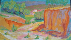 Provence High Summer Landscape Post-Impressionist Signed Mid 20thC Painting