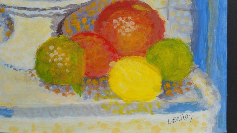 French Neo-Impressionist Still Life Pointillist Mid 20th Century Painting For Sale 2