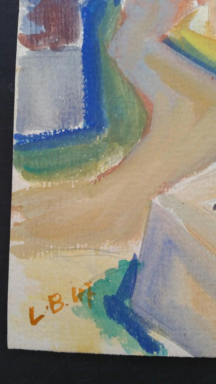 Provence Summer Landscape Post-Impressionist Signed 1947 Painting  For Sale 7