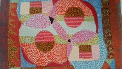 French Neo-Impressionist Pointillist Abstract Mid 20th Century Small Painting