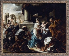 The Adoration of the Magi 17th Century Austrian Old Master Oil Painting