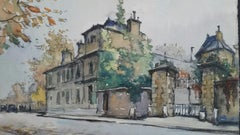 French Watercolour Ecole de Paris Mid 20th Century Neuilly Sur Seine