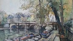 Ecole de Paris Mid 20th Century River Seine Paris: Les Quais