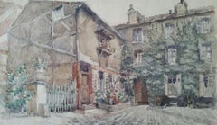 French Watercolour Ecole de Paris Mid 20th Century Paris: Atelier Studio