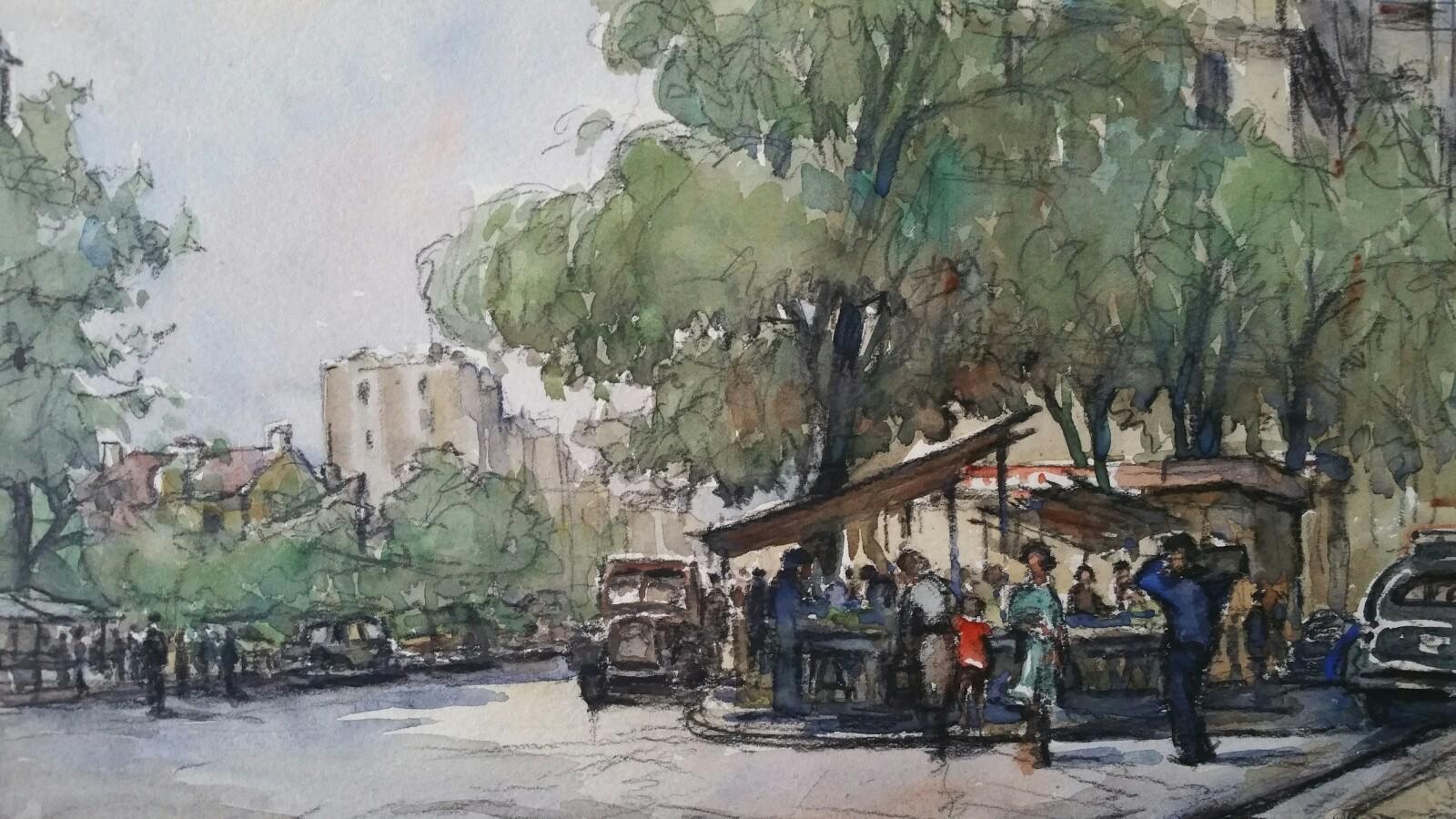 Ecole de Paris Mid 20th Century Paris Street Cafes & Figures
