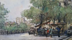 Ecole de Paris Mid 20th Century Paris Street Cafes & Figures