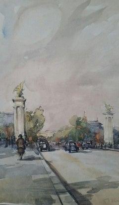 Ecole de Paris Mid 20th Century Pont Alexandre III