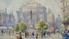 Mid 20th Century Impressionist De Brouckere Brussels Belgium,
