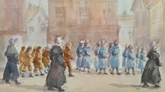 Mid 20th Century Procession of Orphan Children Luxembourg