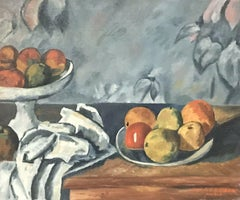 FERNAND AUDET (1923-2016) SIGNED FRENCH POST-IMPRESSIONIST OIL - CEZANNE APPLES