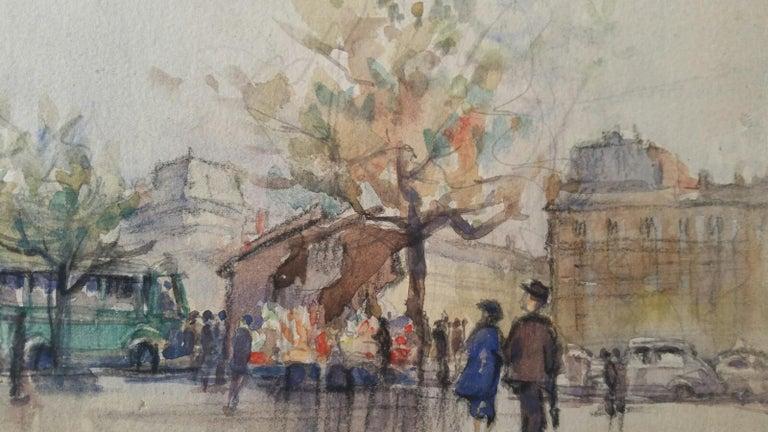 Ecole de Paris, Mid 20th Century, A Pair: L'eglise de la Madeleine  For Sale 5
