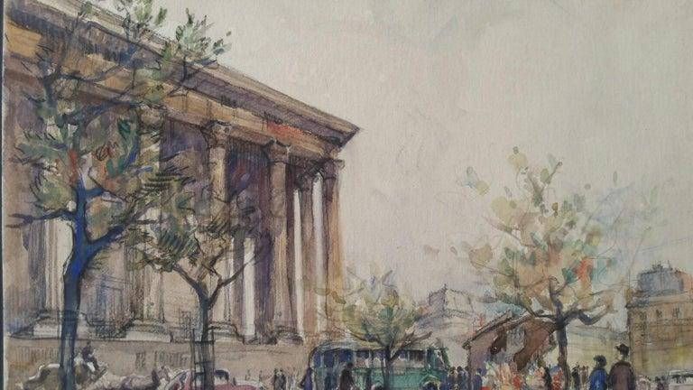 Ecole de Paris, Mid 20th Century, A Pair: L'eglise de la Madeleine  For Sale 7