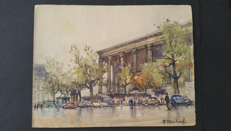 Ecole de Paris, Mid 20th Century, A Pair: L'eglise de la Madeleine  For Sale 9