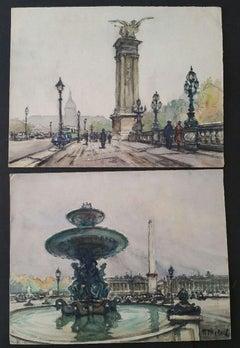 Ecole de Paris, Mid 20th Century, Two Landmark Paintings