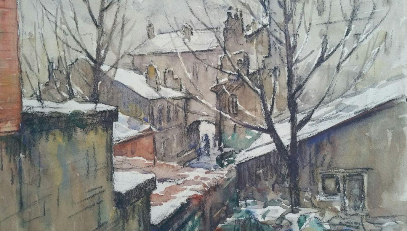 Ecole de Paris Mid 20th Century City Architecctural Winter Scene