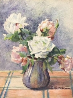 MARIE CHAUTARD-CARREAU - FINE EARLY 20thC FRENCH IMPRESSIONIST FLOWER PAINTING