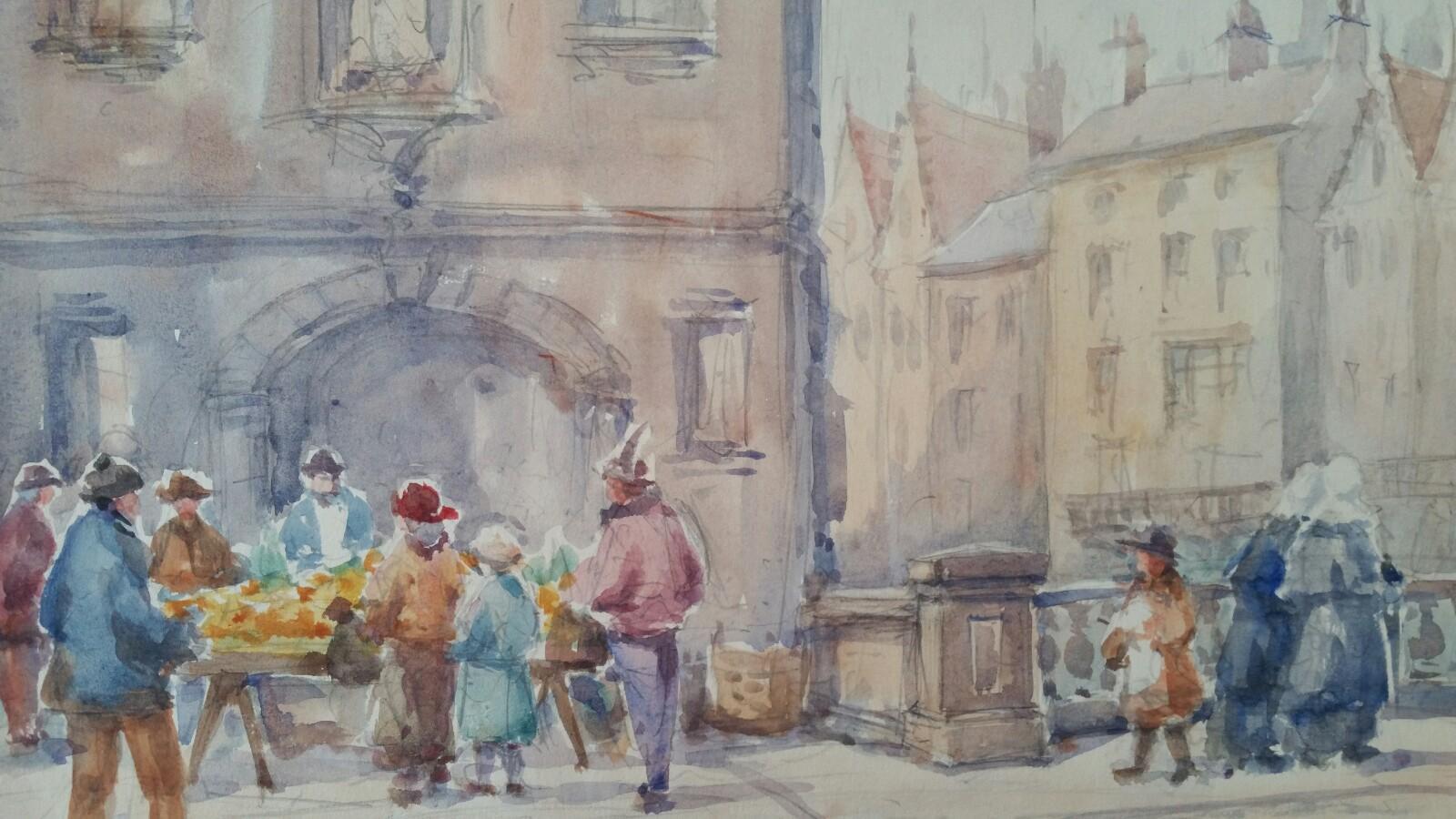 Mid 20th Century, Belgium, A Gent Morning Market