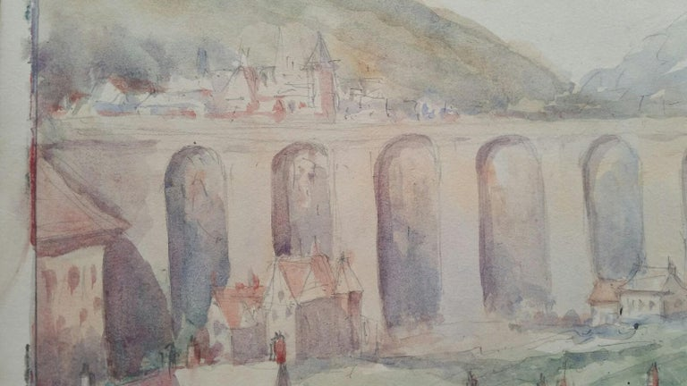 Mid 20th Century, Old Luxembourg, La Passerelle and Ramparts For Sale 1