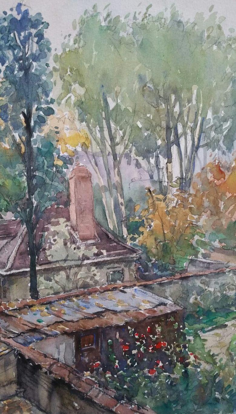 Ecole de Paris Mid 20th Century, Neuilly Sur Seine Garden